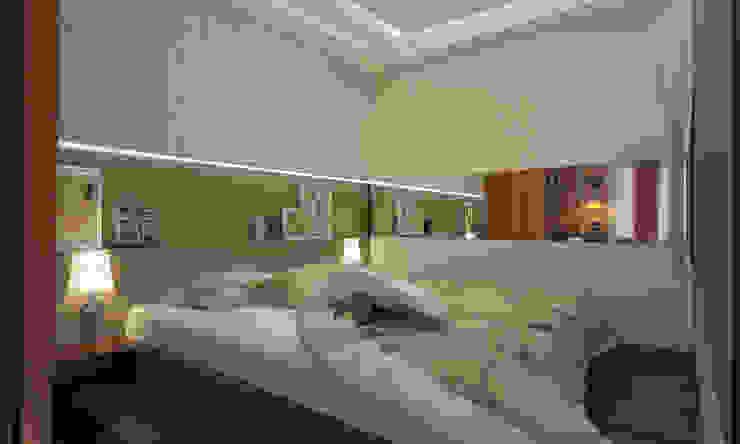 Яркая однушка Спальня в эклектичном стиле от Студия Ксении Седой Эклектичный