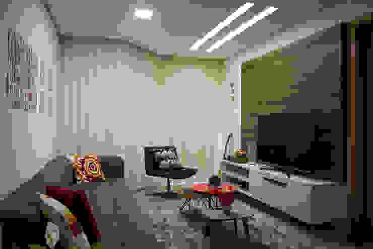 Apartamento Passo D´Areia Salas multimídia modernas por Bibiana Menegaz - Arquitetura de Atmosfera Moderno