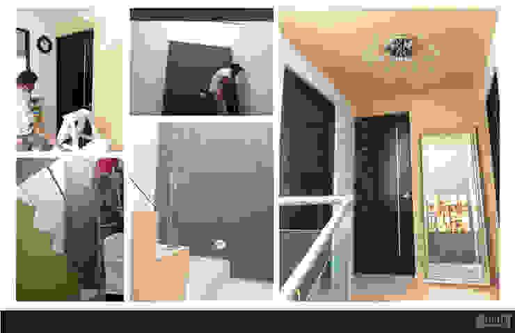 Vilma Pasillos, vestíbulos y escaleras modernos de GRH Interiores Moderno