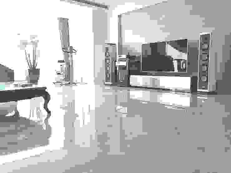 "Natural marble flooring ""NEW EASYSTONE"" Livings modernos: Ideas, imágenes y decoración de (주)이지테크(EASYTECH Inc.) Moderno"