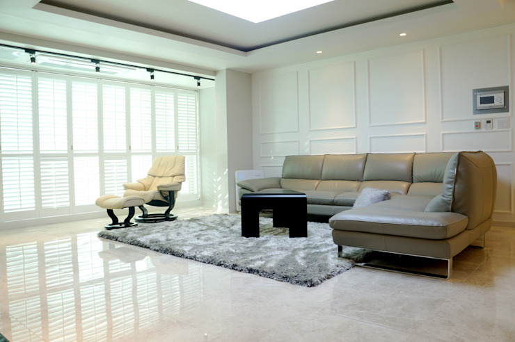 """Natural marble flooring """"NEW EASYSTONE"""" by (주)이지테크(EASYTECH Inc.) Modern"""