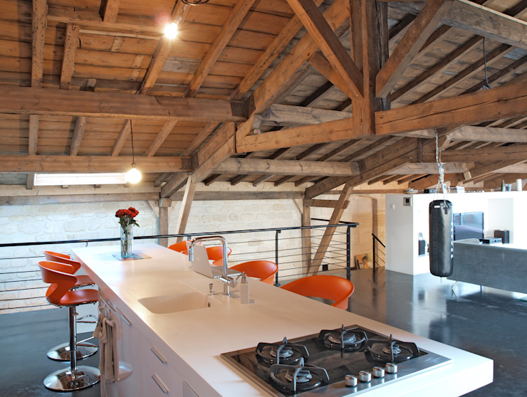 atelier d'architecture King Kong Cozinhas modernas