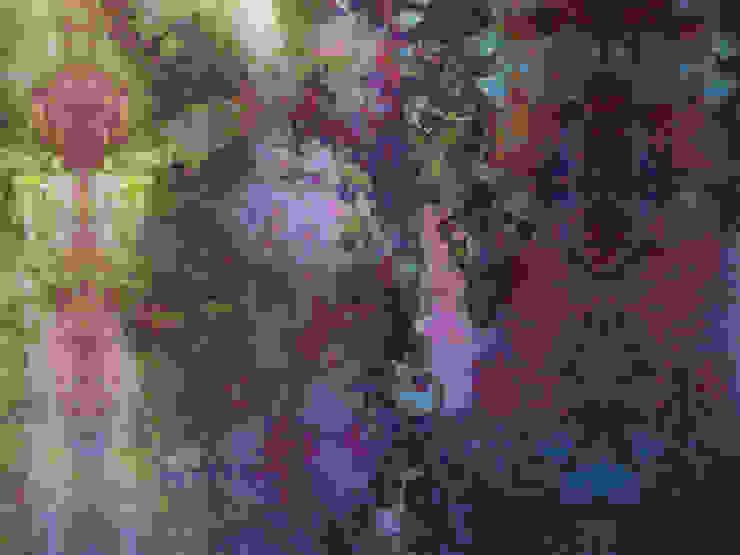 Moss, one off wallpaper Boston MA eetkamer Eclectische eetkamers van Workingbert Eclectisch