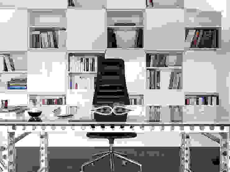 Freistehendes modernes Passivhaus Moderne Arbeitszimmer von Maisons Loginter Modern