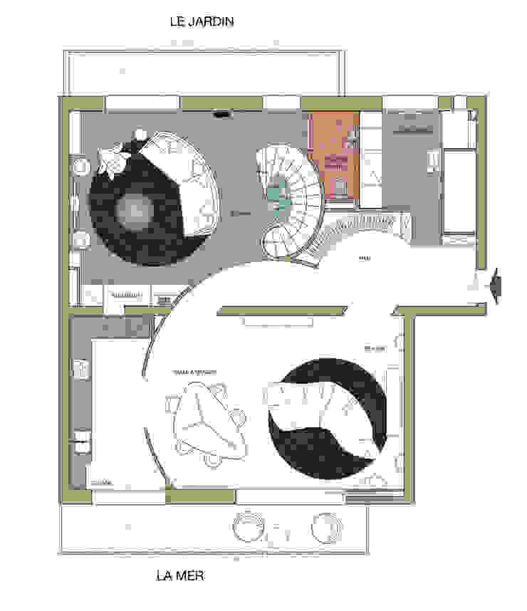 Pianta piano superiore - living di studiodonizelli