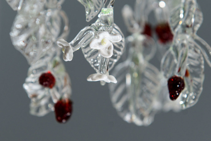 Glass chandelier with strawberries : modern  by A Flame with Desire, Modern