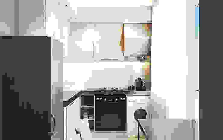 Дизайн интерьера кухни Кухня в стиле минимализм от DOMOS Студия дизайна интерьеров и ремонта Минимализм