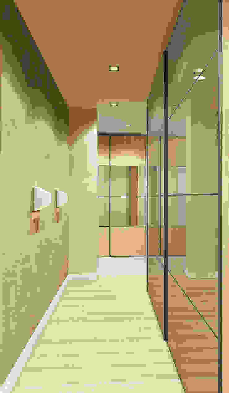 Квартира на Чистопольской Коридор, прихожая и лестница в стиле минимализм от DOMOS Студия дизайна интерьеров и ремонта Минимализм