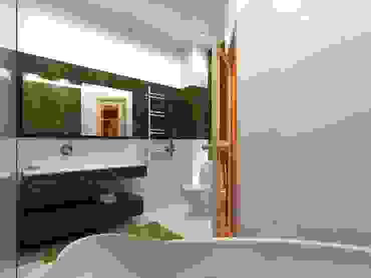Квартира на Чистопольской Ванная комната в стиле минимализм от DOMOS Студия дизайна интерьеров и ремонта Минимализм