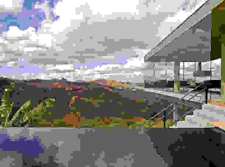 Vista a partir da piscina. Casas modernas por Humberto Hermeto Moderno