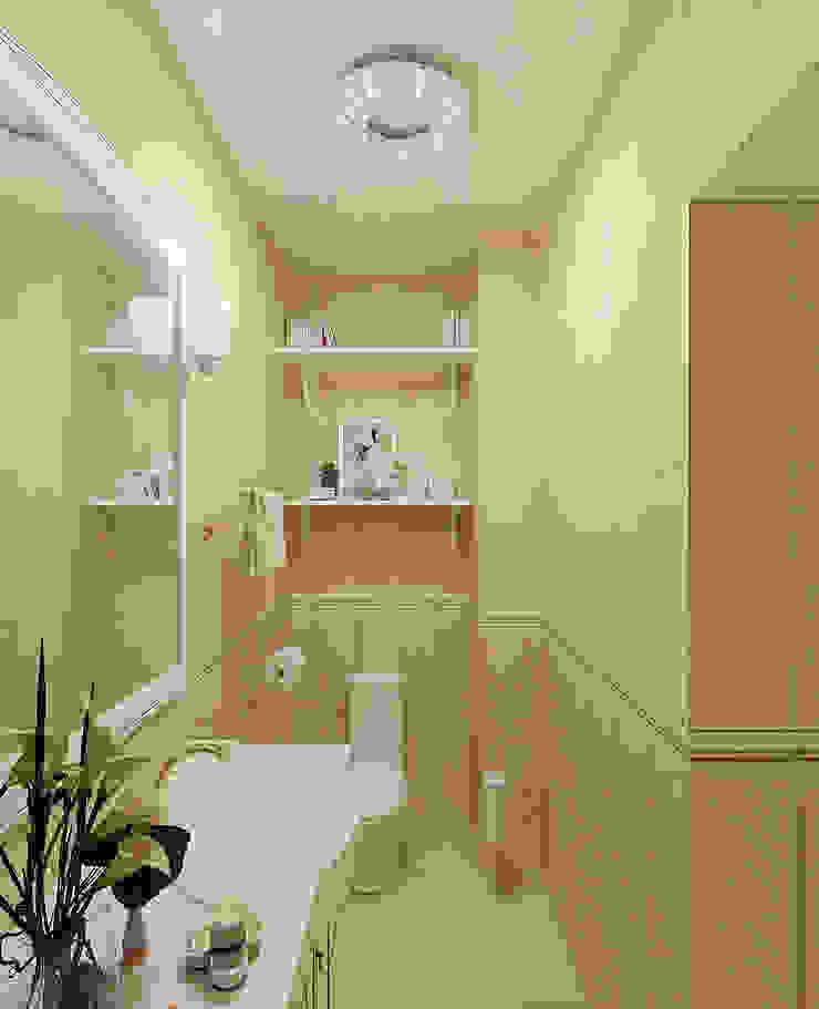 Легкая классика Ванная в классическом стиле от Алиса Ерыкова Художественное проектирование Классический