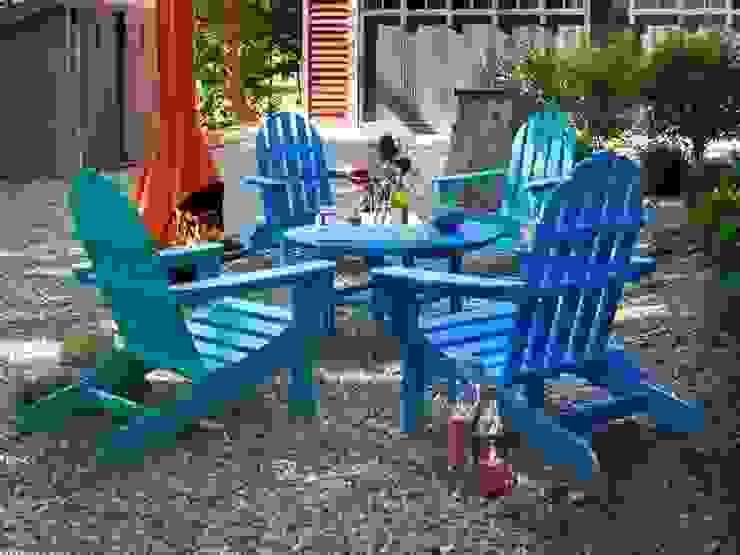 Casa Bruno Gartenstuhl Adirondack in blau und türkis mit Tisch von Casa Bruno - the way to feel good Skandinavisch