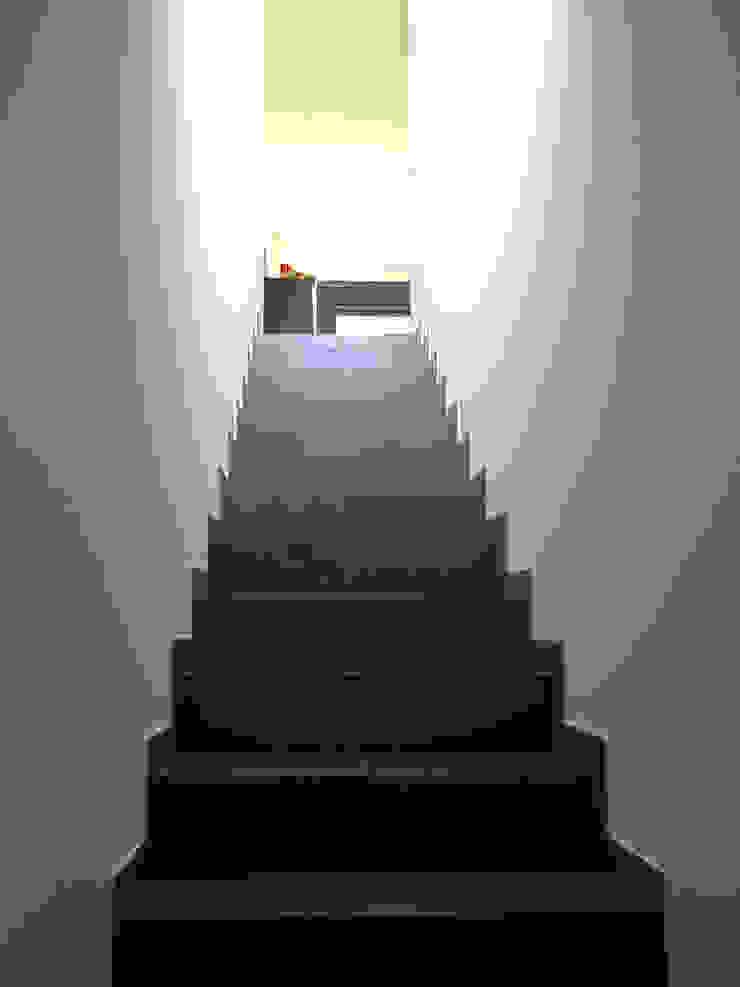 VIVIENDA UNIFALIMIAR EN O CARBALLO Pasillos, vestíbulos y escaleras de estilo moderno de arquitectura SEN MÁIS Moderno