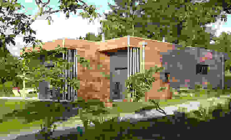 Façade Nord Est Maisons modernes par Gilles Cornevin SARL Moderne