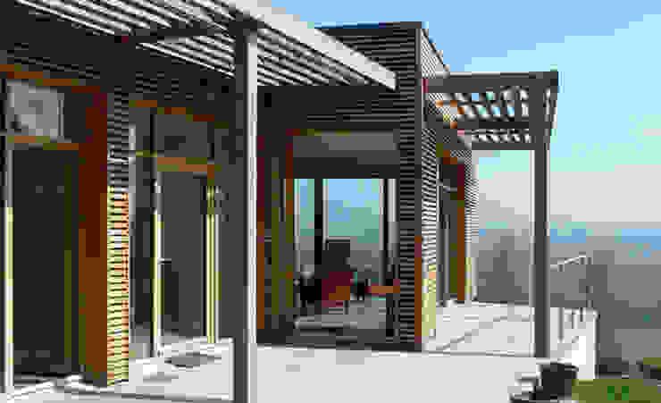 La terrasse avec vue sur la Loire Gilles Cornevin SARL Maisons modernes