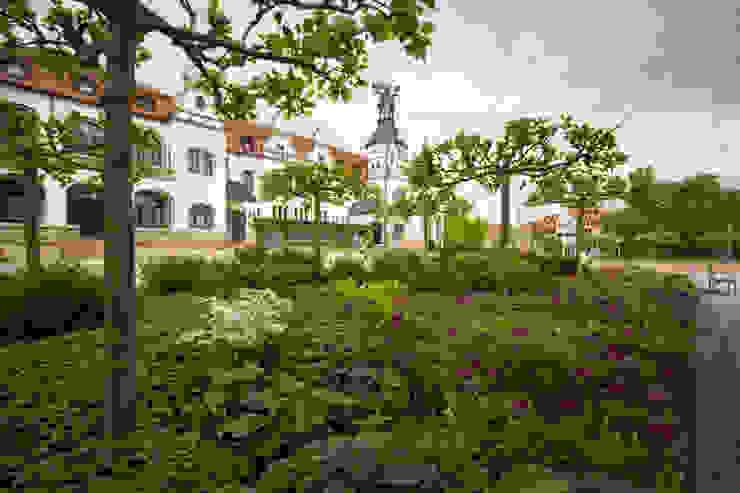 Pflanzung am Kurplatz GFSL clausen landschaftsarchitekten gruen fuer stadt + leben Klassische Krankenhäuser