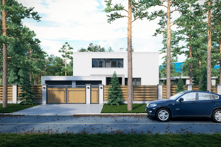 Дом в Омске Максим Любецкий Дома в стиле минимализм