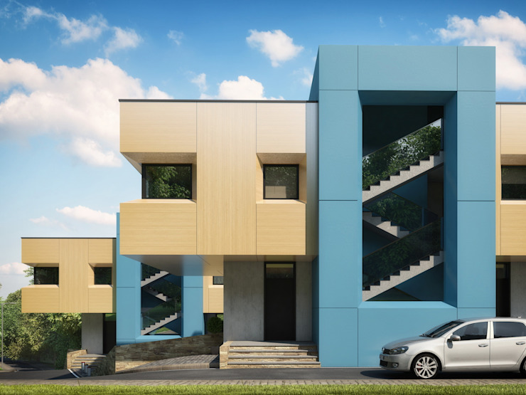 Дома для молодых Дома в стиле минимализм от Максим Любецкий Минимализм