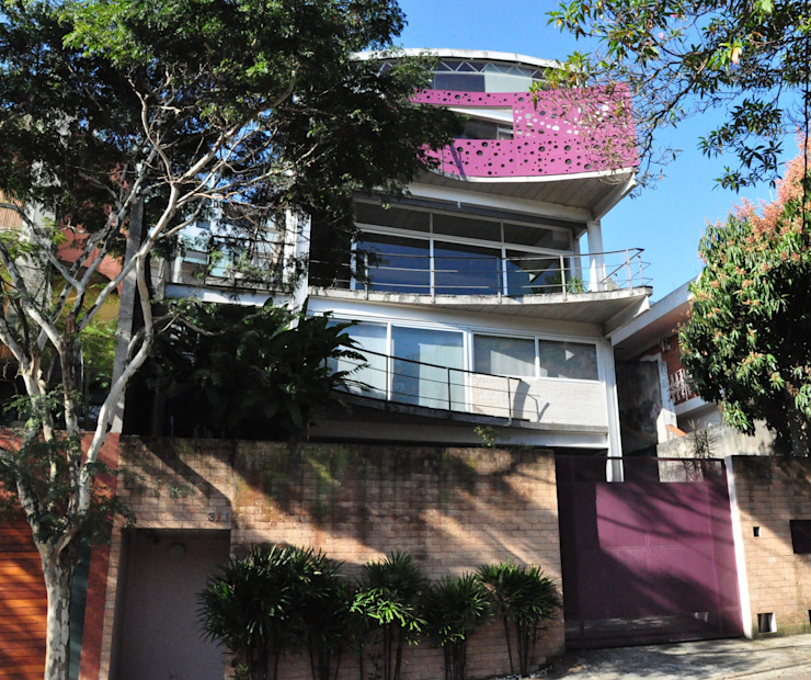 Fachada 2 Casas modernas por Lima Pinheiro Arquitetos Moderno
