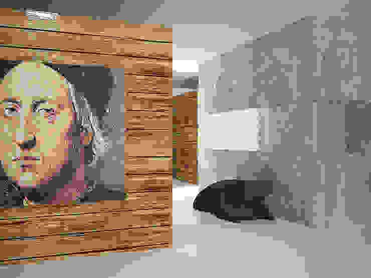 Cubes in flat Гостиные в эклектичном стиле от SHKAF interior architects Эклектичный