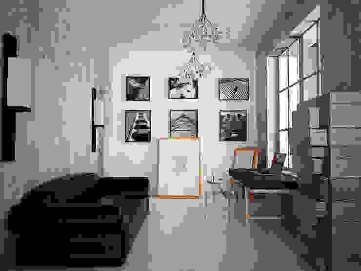 Cubes in flat Рабочий кабинет в эклектичном стиле от SHKAF interior architects Эклектичный