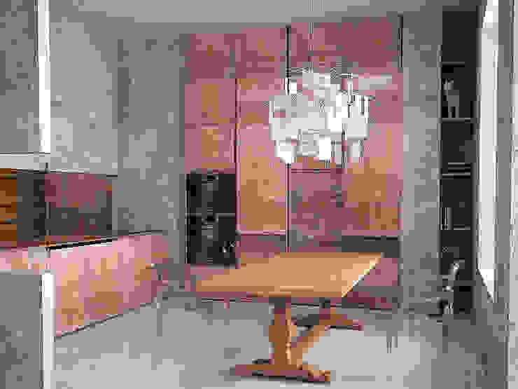 Cubes in flat Столовая комната в эклектичном стиле от SHKAF interior architects Эклектичный