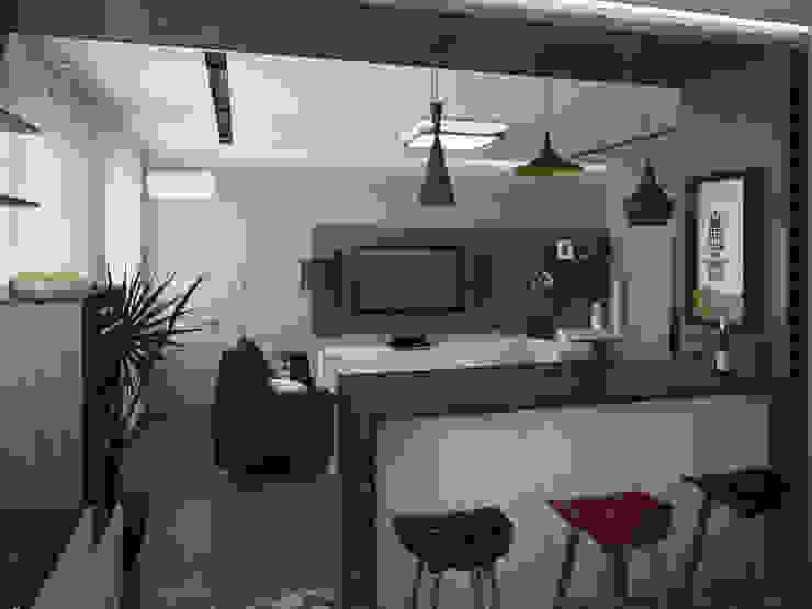 Кухня-гостиная Гостиная в стиле модерн от Olesya Parkhomenko Модерн