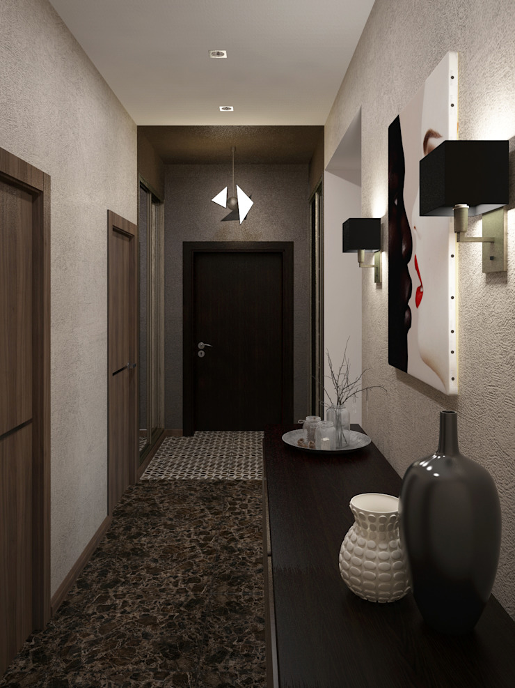 Холл Коридор, прихожая и лестница в модерн стиле от Olesya Parkhomenko Модерн