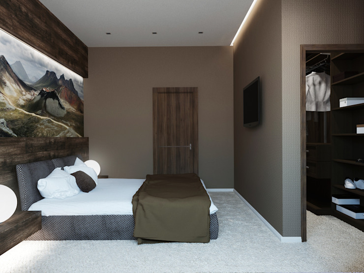 Спальня Спальня в стиле модерн от Olesya Parkhomenko Модерн