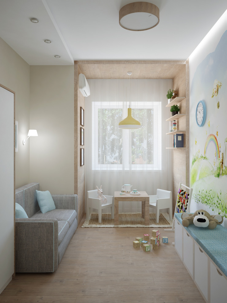 Детская малыша Детская комната в стиле модерн от Olesya Parkhomenko Модерн