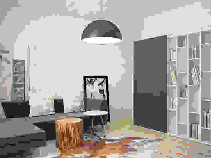 Da Vinci residential Гостиные в эклектичном стиле от SHKAF interior architects Эклектичный