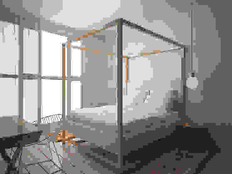 Da Vinci residential Спальня в эклектичном стиле от SHKAF interior architects Эклектичный