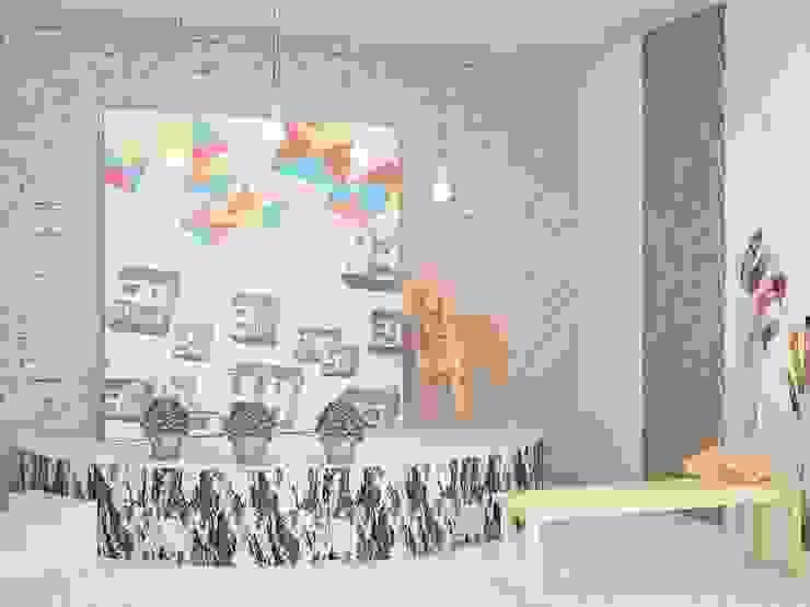 Kindergarten Детские комната в эклектичном стиле от SHKAF interior architects Эклектичный