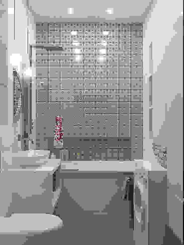 Квартира 110 кв.м г. Ульяновск Ванная комната в скандинавском стиле от Olesya Parkhomenko Скандинавский