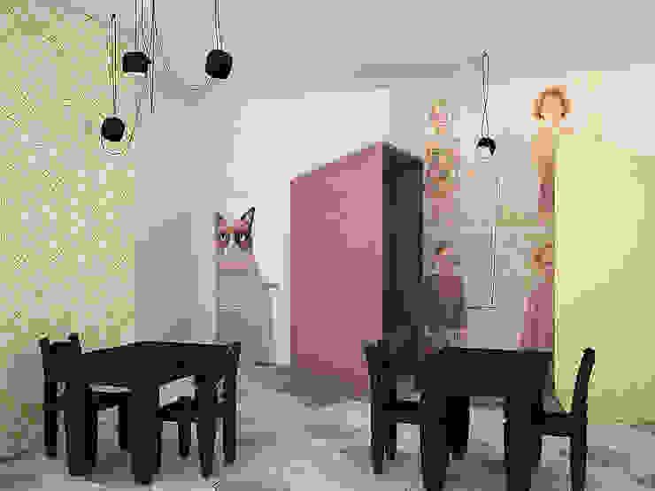 Kindergarten Столовая комната в эклектичном стиле от SHKAF interior architects Эклектичный