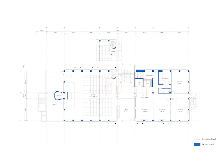 St.Francisco education center Re-modeling and extension by ISON ARCHITECTS