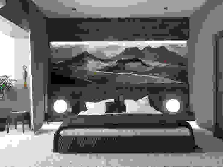 Квартира 110 кв.м г. Ульяновск Спальня в стиле модерн от Olesya Parkhomenko Модерн
