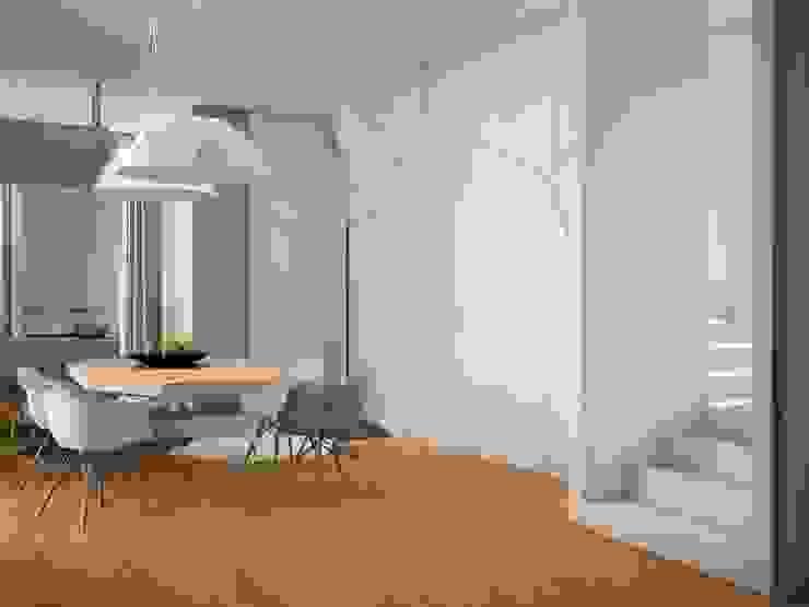 Townhouse Origami Столовая комната в стиле минимализм от SHKAF interior architects Минимализм