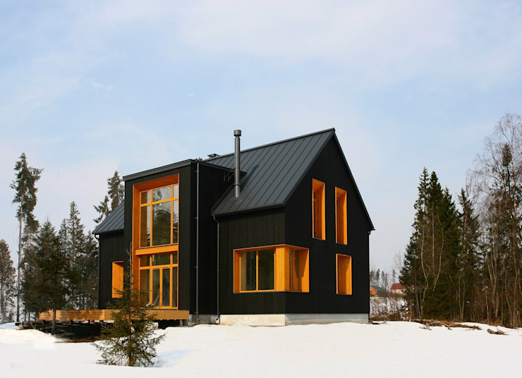 Scandinavian style houses by Snegiri Architects Scandinavian