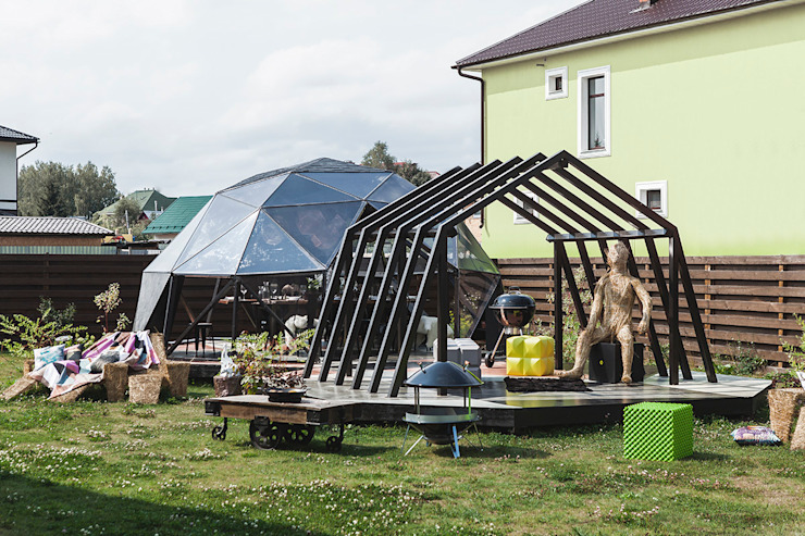 Gazebo ad pergola for a TV-programme Fazenda: Tерраса в . Автор – SHKAF interior architects