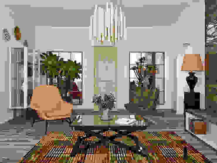 гостиная Гостиные в эклектичном стиле от Olesya Parkhomenko Эклектичный