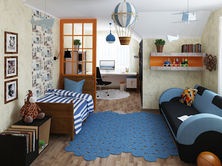 Детская мальчиков Детские комната в эклектичном стиле от Olesya Parkhomenko Эклектичный