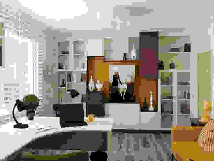 Кабинет Рабочий кабинет в эклектичном стиле от Olesya Parkhomenko Эклектичный