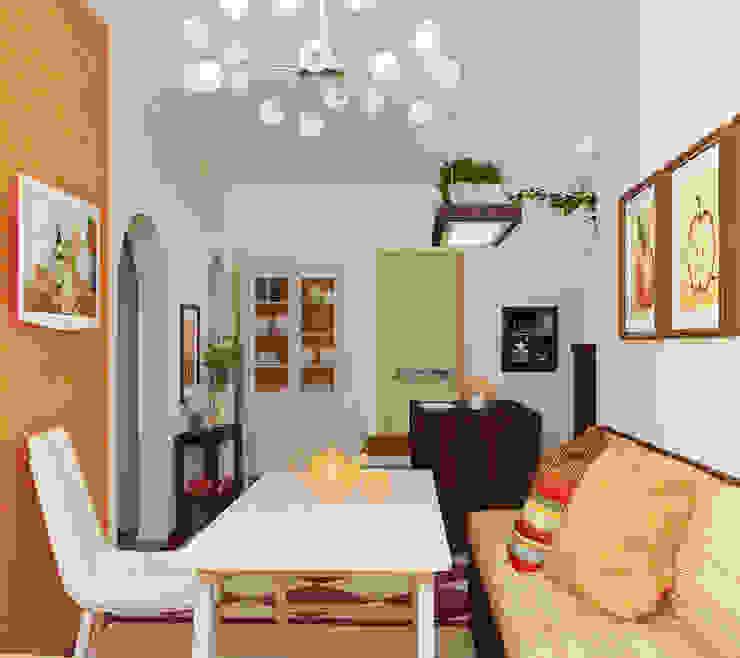 Столовая Столовая комната в эклектичном стиле от Olesya Parkhomenko Эклектичный