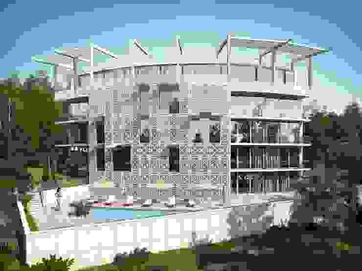 Многоквартирный жилой дом Дома в стиле минимализм от Максим Любецкий Минимализм