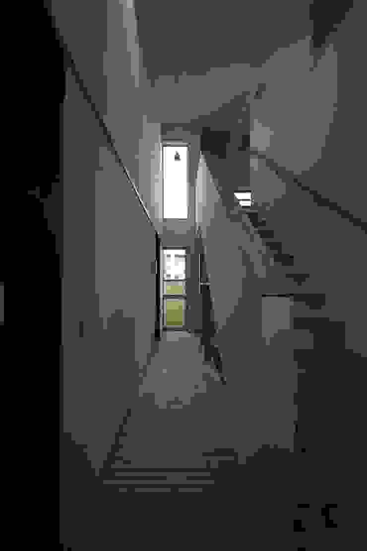 桜台の住まい House in sakuradai モダンスタイルの 玄関&廊下&階段 の タイラヤスヒロ建築設計事務所/yasuhiro taira architects & associates モダン