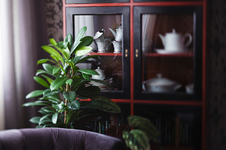 Morris под боком Гостиная в средиземноморском стиле от Ekaterina Saranduk Средиземноморский