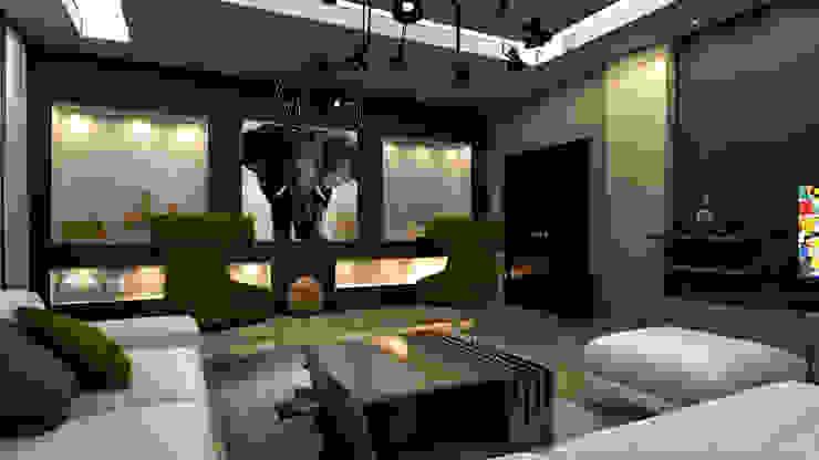 m. rezan özge özdemir – Villa iç tasarımı-oturma odası: modern tarz , Modern