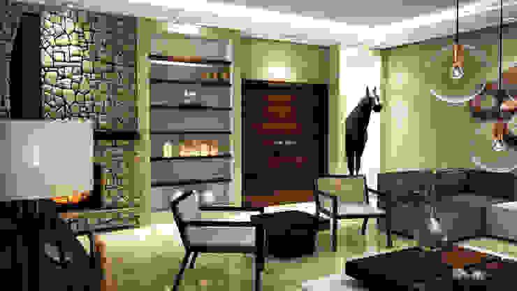 m. rezan özge özdemir – Villa iç tasarımı-Salon: modern tarz , Modern