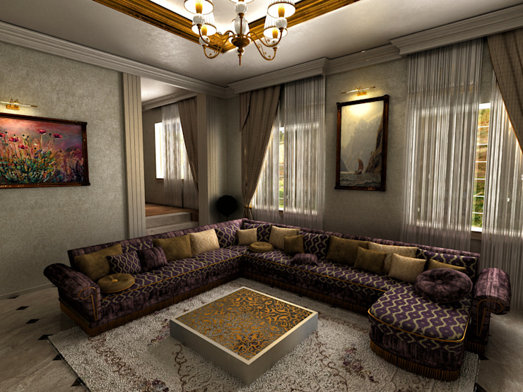 Villa Interior Design -Living Room m. rezan özge özdemir Living room